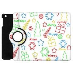 Simple Christmas Pattern Apple Ipad Mini Flip 360 Case by Valentinaart