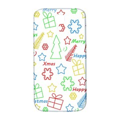 Simple Christmas Pattern Samsung Galaxy S4 I9500/i9505  Hardshell Back Case by Valentinaart