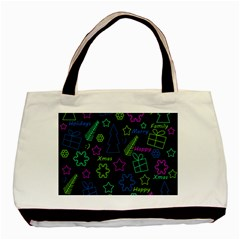 Decorative Xmas Pattern Basic Tote Bag (two Sides) by Valentinaart
