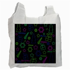 Decorative Xmas Pattern Recycle Bag (one Side) by Valentinaart