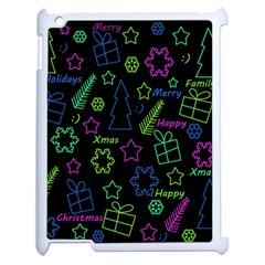 Decorative Xmas Pattern Apple Ipad 2 Case (white) by Valentinaart