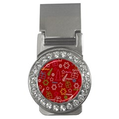 Red Xmas Pattern Money Clips (cz)  by Valentinaart
