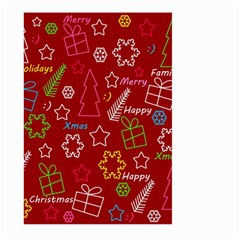 Red Xmas Pattern Large Garden Flag (two Sides) by Valentinaart