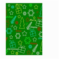Green Xmas Pattern Large Garden Flag (two Sides) by Valentinaart