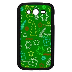 Green Xmas Pattern Samsung Galaxy Grand Duos I9082 Case (black) by Valentinaart