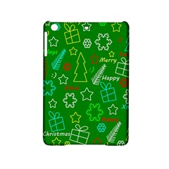 Green Xmas Pattern Ipad Mini 2 Hardshell Cases by Valentinaart