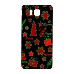 Red And Green Xmas Pattern Samsung Galaxy Alpha Hardshell Back Case by Valentinaart
