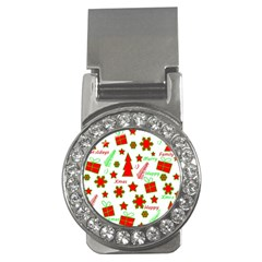Red And Green Christmas Pattern Money Clips (cz)  by Valentinaart