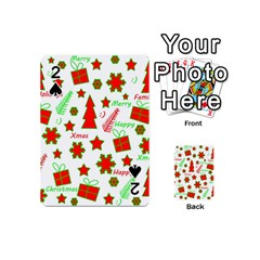 Red And Green Christmas Pattern Playing Cards 54 (mini)  by Valentinaart