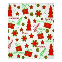 Red And Green Christmas Pattern Shower Curtain 60  X 72  (medium)  by Valentinaart