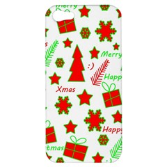 Red And Green Christmas Pattern Apple Iphone 5 Hardshell Case by Valentinaart