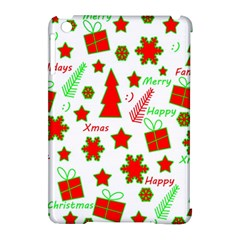 Red And Green Christmas Pattern Apple Ipad Mini Hardshell Case (compatible With Smart Cover) by Valentinaart