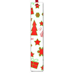 Red And Green Christmas Pattern Large Book Marks by Valentinaart