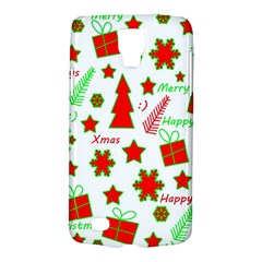 Red And Green Christmas Pattern Galaxy S4 Active by Valentinaart