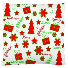 Red And Green Christmas Pattern Standard Flano Cushion Case (one Side) by Valentinaart