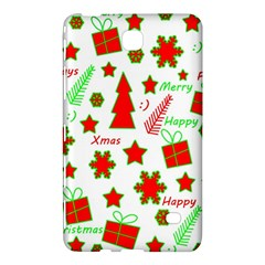 Red And Green Christmas Pattern Samsung Galaxy Tab 4 (8 ) Hardshell Case  by Valentinaart
