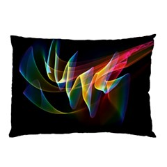 Northern Lights, Abstract Rainbow Aurora Pillow Case (two Sides) by DianeClancy