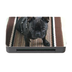 Brindle French Bulldog Sitting Memory Card Reader with CF by TailWags