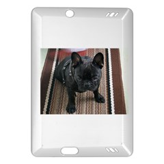 Brindle French Bulldog Sitting Amazon Kindle Fire HD (2013) Hardshell Case by TailWags