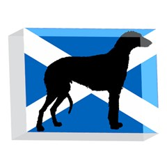 Scottish Deerhound Silhouette Scotland Flag 5 x 7  Acrylic Photo Blocks by TailWags