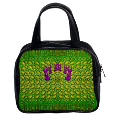 Flowers And Yoga In The Wind Classic Handbags (2 Sides) by pepitasart