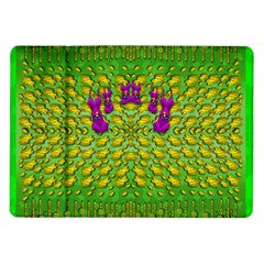 Flowers And Yoga In The Wind Samsung Galaxy Tab 10 1  P7500 Flip Case by pepitasart
