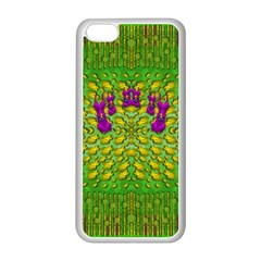 Flowers And Yoga In The Wind Apple Iphone 5c Seamless Case (white) by pepitasart