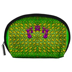 Flowers And Yoga In The Wind Accessory Pouches (large)  by pepitasart