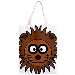 Lion Head Cat Mane Grinning Zoo  Classic Light Tote Bag by Zeze