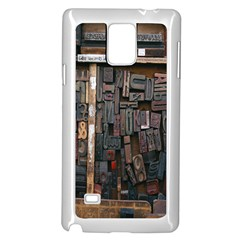 Woodtype Wood Blocks Wood Type Type Samsung Galaxy Note 4 Case (White) by Zeze