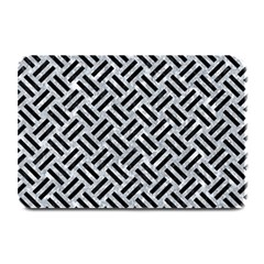 Woven2 Black Marble & Gray Marble (r) Plate Mat by trendistuff