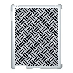Woven2 Black Marble & Gray Marble (r) Apple Ipad 3/4 Case (white) by trendistuff