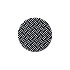 Woven2 Black Marble & Gray Marble Golf Ball Marker (4 Pack) by trendistuff