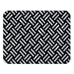 Woven2 Black Marble & Gray Marble Double Sided Flano Blanket (large) by trendistuff