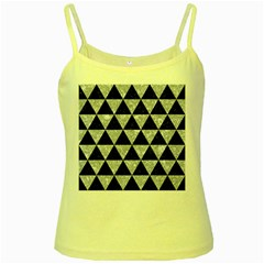 Triangle3 Black Marble & Gray Marble Yellow Spaghetti Tank by trendistuff