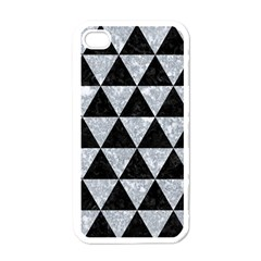 Triangle3 Black Marble & Gray Marble Apple Iphone 4 Case (white) by trendistuff