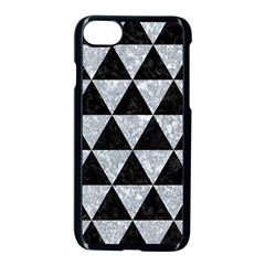 Triangle3 Black Marble & Gray Marble Apple Iphone 7 Seamless Case (black) by trendistuff