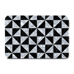 Triangle1 Black Marble & Gray Marble Plate Mat by trendistuff