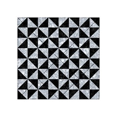 Triangle1 Black Marble & Gray Marble Acrylic Tangram Puzzle (4  X 4 ) by trendistuff