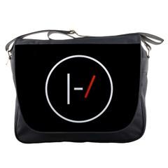 Twenty One Pilots Band Logo Messenger Bags by Onesevenart