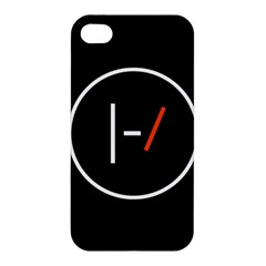 Twenty One Pilots Band Logo Apple Iphone 4/4s Premium Hardshell Case by Onesevenart