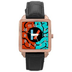 Twenty One Pilots  Rose Gold Leather Watch  by Onesevenart