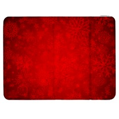 Decorative Red Christmas Background With Snowflakes Samsung Galaxy Tab 7  P1000 Flip Case by TastefulDesigns