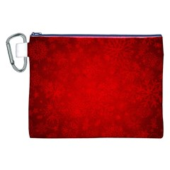 Decorative Red Christmas Background With Snowflakes Canvas Cosmetic Bag (xxl) by TastefulDesigns