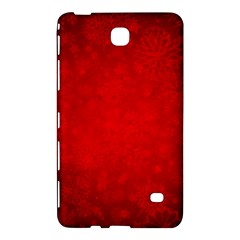 Decorative Red Christmas Background With Snowflakes Samsung Galaxy Tab 4 (7 ) Hardshell Case  by TastefulDesigns