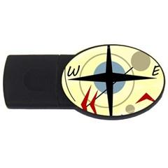 Compass 3 Usb Flash Drive Oval (2 Gb)  by Valentinaart