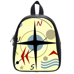 Compass 3 School Bags (small)  by Valentinaart