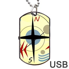 Compass 3 Dog Tag Usb Flash (two Sides)  by Valentinaart
