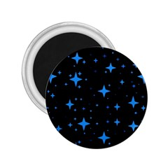 Bright Blue  Stars In Space 2 25  Magnets by Costasonlineshop