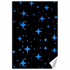 Bright Blue  Stars In Space Canvas 20  X 30   by Costasonlineshop